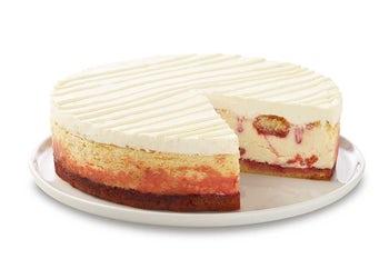 10 Inch Lemon Raspberry Cream Cheesecake