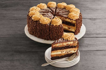 10 Inch Reese's® Peanut Butter Chocolate Cake Cheesecake