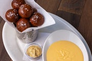 Pretzel Bites with Cheddar Cheese Fondue