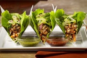 Asian Chicken Lettuce Wrap Tacos