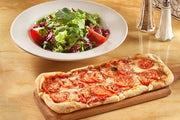 Fresh Basil, Tomato and Cheese Flatbread Pizza