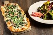 Spinach and Mushroom Flatbread Pizza