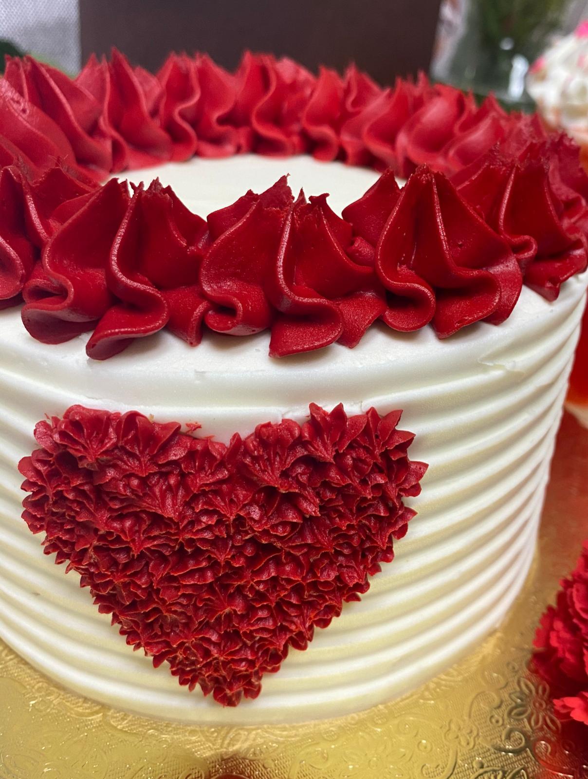 Bizcocho de San Valentin Marmoleado