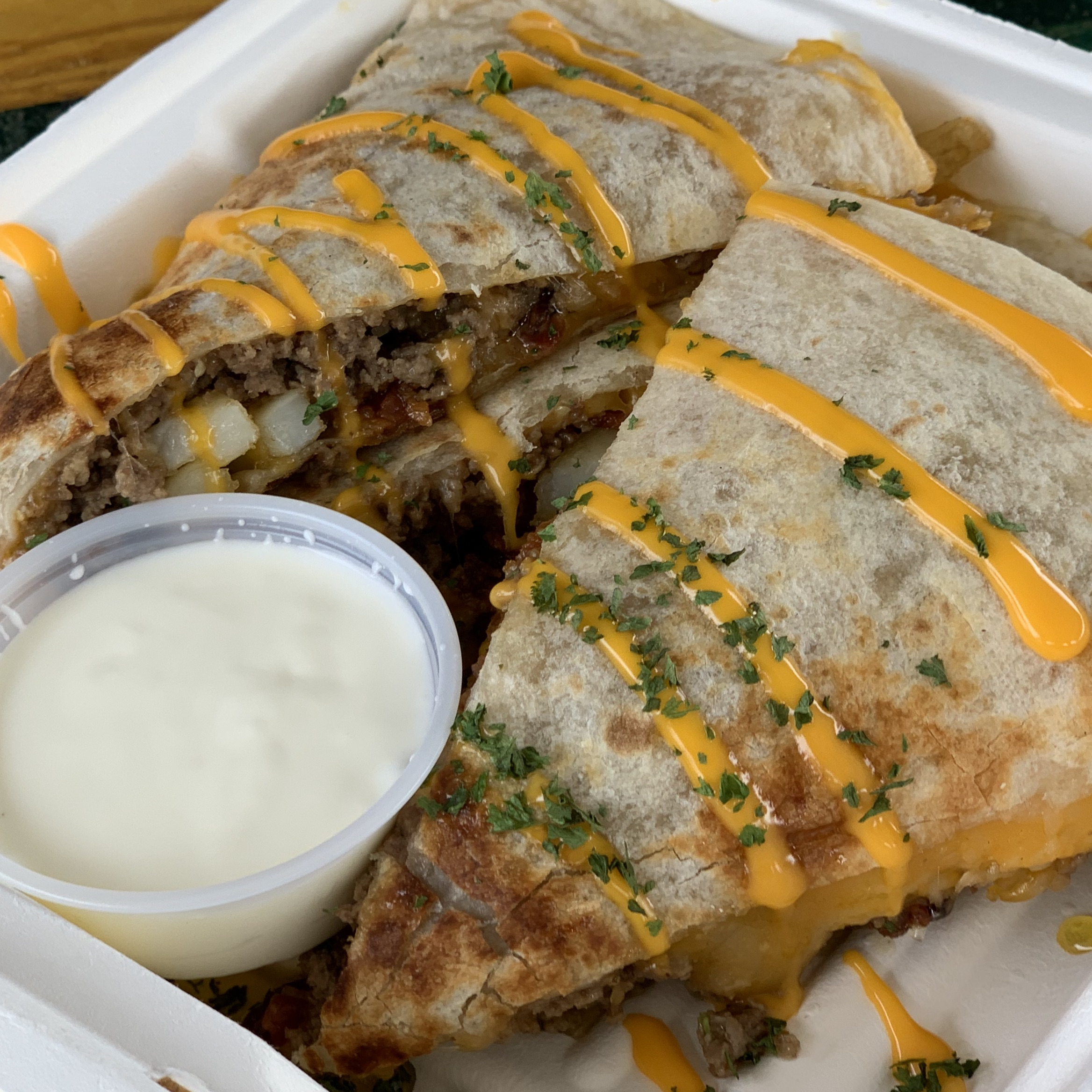 Ground Beef Loaded Quesadillas