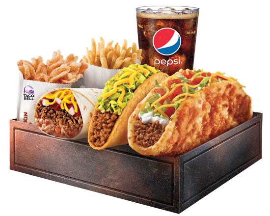 Box $6.99 Toasted Cheddar Chalupa