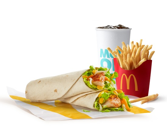 McCombo Grilled Honey Mustard Snack Wraps