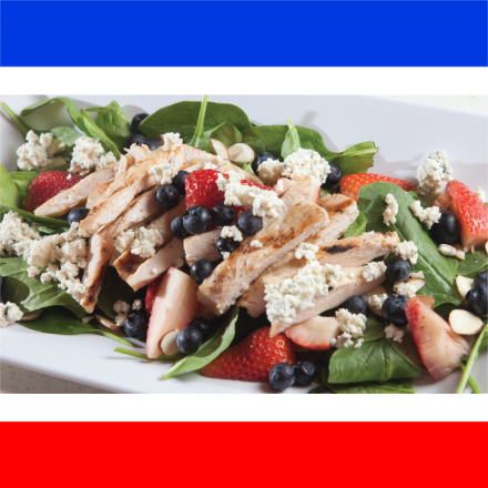 Spinach and Berries Chicken Salad